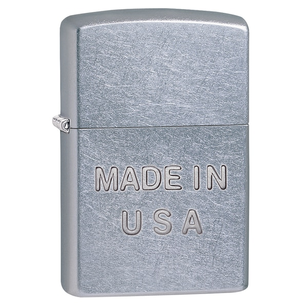 Zippo Made in USA Street Chrome Lighter
