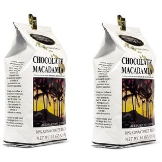 Hawaiian Isles Chocolate Macadamia Nut Kona Coffee (Set of 2)