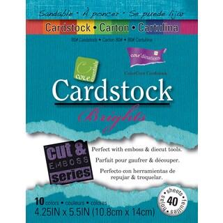 Core'dinations Core Essentials Cardstock 4.25inX5.5in 40/PkgBrights