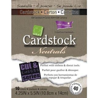 Core'dinations Core Essentials Cardstock 4.25inX5.5in 40/PkgNeutrals