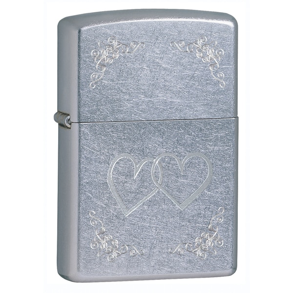 Zippo Heart to Heart Street Chrome Lighter