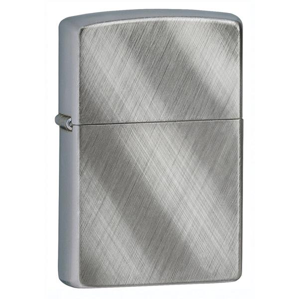 Zippo Diagonal Weave Brushed Chrome Lighter