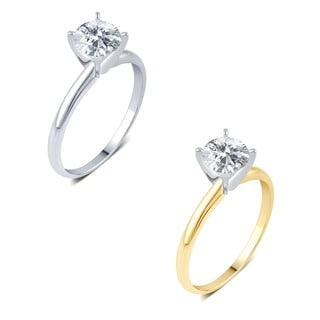 14k White Gold 3/4ct TDW IGL-certified Diamond Solitaire Engagement Ring (H-I,I1-I2)
