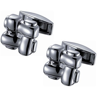 Men's Stainless Steel Knotted Titanium Cufflinks