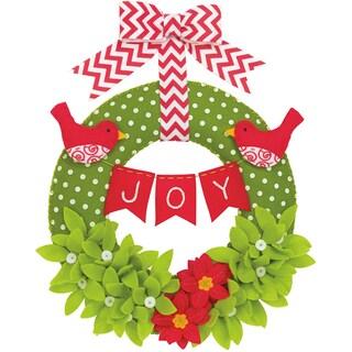 Joy Wreath Felt Applique Kit14in Round