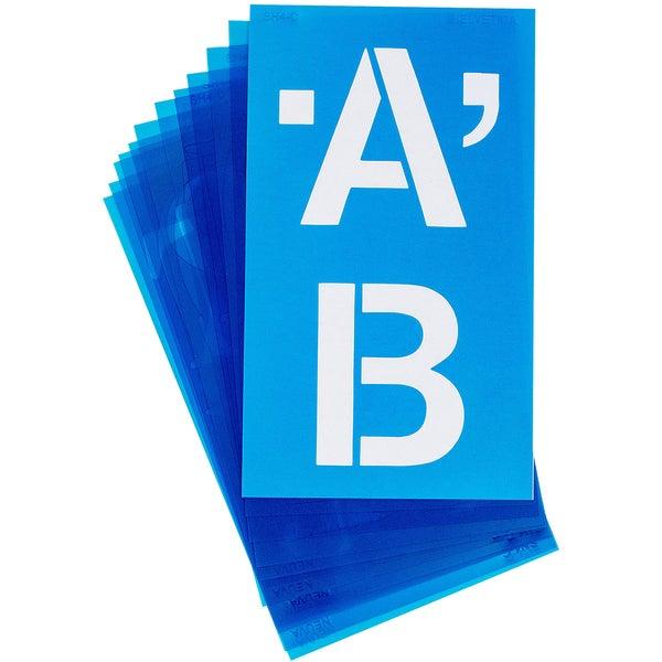 Alphabet Stencils 100/PkgHelvetica Capital Letters 4in
