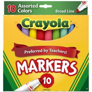 Crayola Broad Line MarkersAssorted Colors 10/Pkg