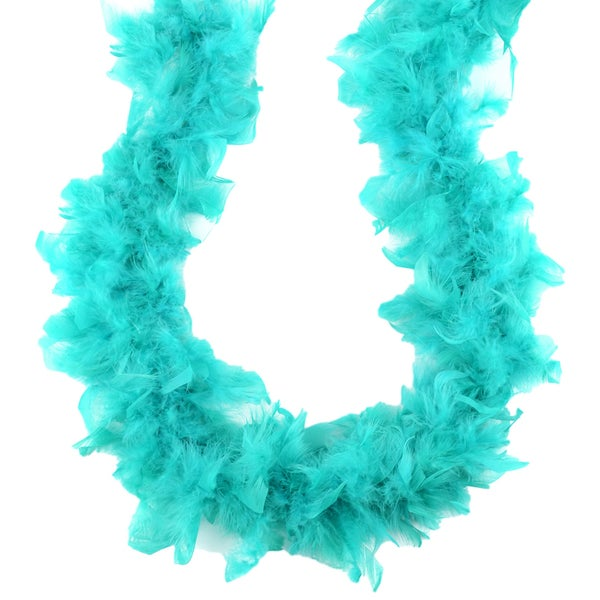 Turkey Feather Chandelle Boa 2ydBermuda Blue
