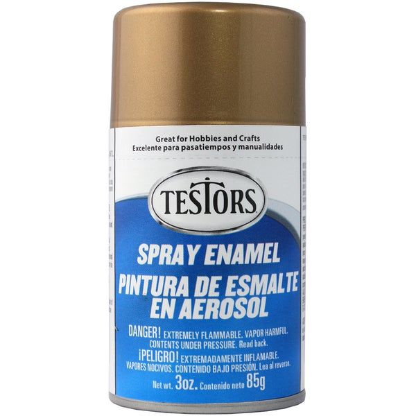 Testors Spray Enamel 3ozMetallic Gold