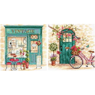 Afternoon In Provence Counted Cross Stitch Kit6inX6in 14 Count Set Of 2
