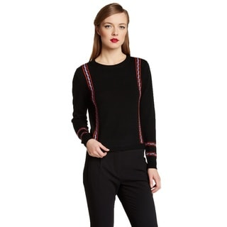 Cynthia Rowley Women's Black Wool Crewneck Sweater