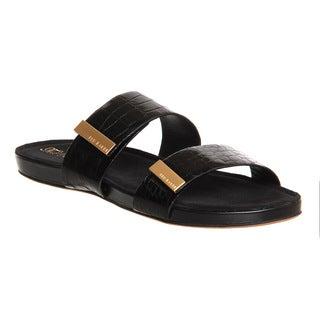 Ted Baker Women's Reisling Black Crocodile Leather Sandal Shoe