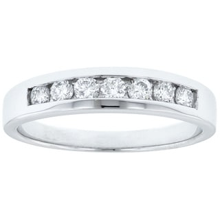 14k White Gold 1/3ct TDW Diamond Channel Wedding Band (G-H, SI1-SI2)