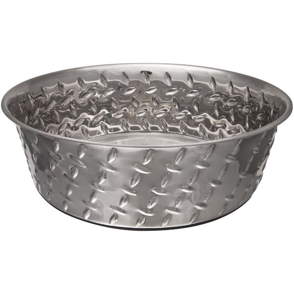 RuffNTuff 3 Quart Diamond Plate Bowl W/Non Skid Bottom