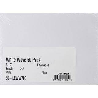 Leader A7 Envelopes (5.25inX7.25in) 50/PkgWhite