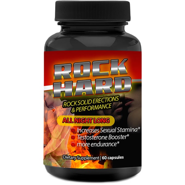 Rock Hard Male Enhancement Advanced Libido Booster (60 Capsules)