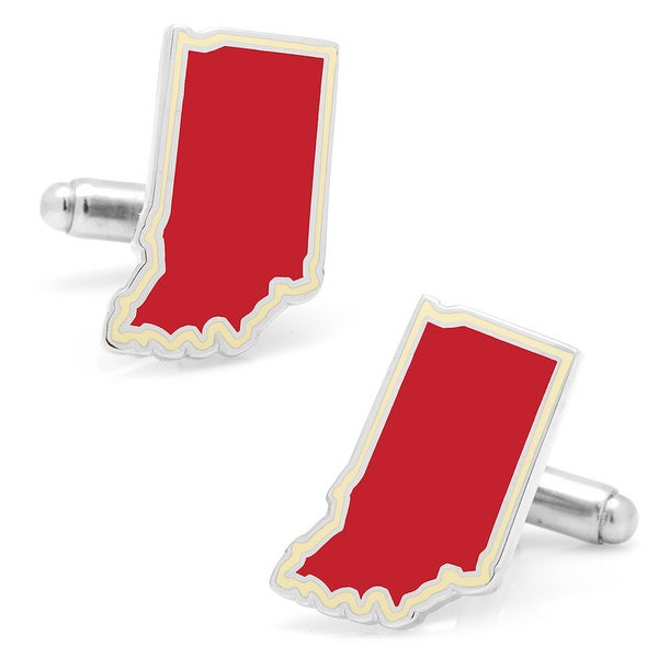 Silverplated Red Indiana Cufflinks