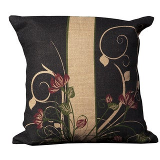 Mina Victory Lifestyle Floral Natural Throw Pillow (20-inch x 20-inch) by Nourison