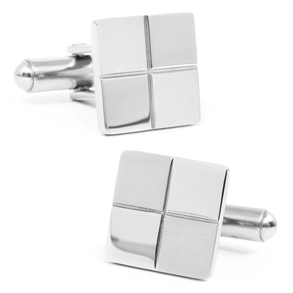 Stainless Steel Checkered Cufflinks