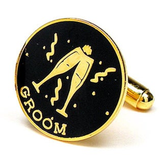 Goldtone Groom's Cufflinks