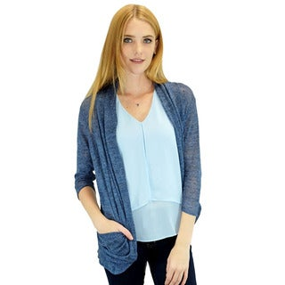 Relished Women's Contemporary Blue Candace Pocket Cardigan