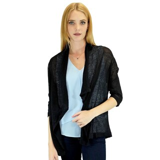 Relished Women's Contemporary Black Candace Pocket Cardigan