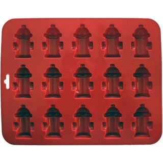 Mini Fire Hydrants Silicone Cake Pan8.5inX6.75in 15 Cavity (1.75'X1.75')