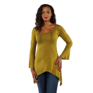 24/7 Comfort Apparel Women's Split-Sleeve High-Low Tunic