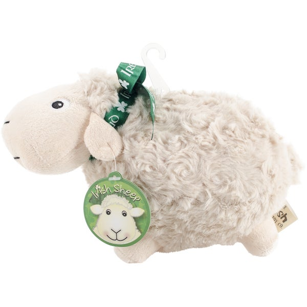 White Soft Toy Sheep W/Ribbon