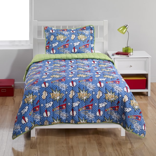 Super Hero 2-piece Quilt Set