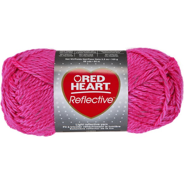 Red Heart Reflective YarnNeon Pink