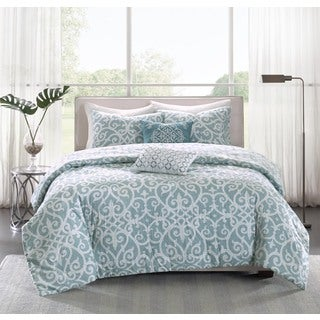 Madison Park Pure Lucia 5-piece Reversible Cotton Duvet Cover Set