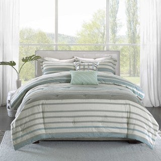Madison Park Pure Burke 5-Piece Cotton Comforter Set