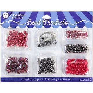 Blue Moon Bead Wardrobe Collection BeadsRed & Black Assorted