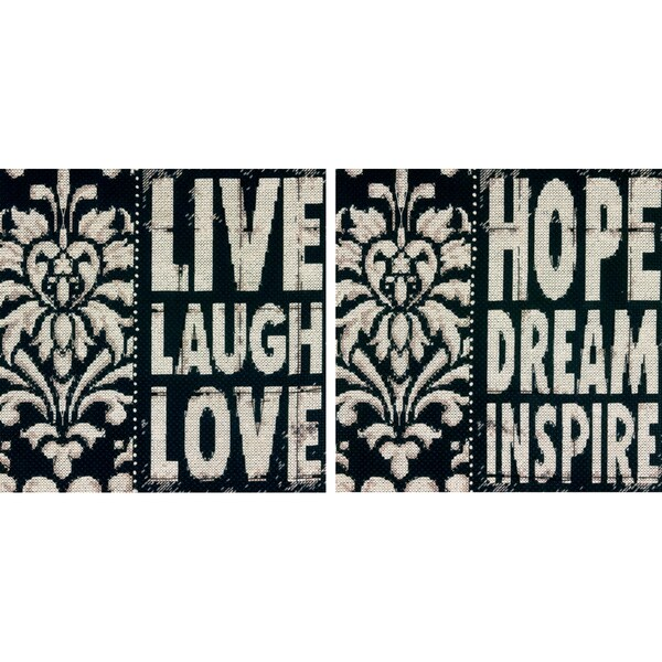 Words To Inspire Counted Cross Stitch Kit8inX8in 14 Count