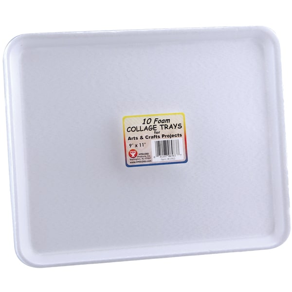 Foam Collage Trays 10/Pkg9inX11in