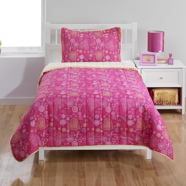 Hearts 2-piece Twin Quilt Set