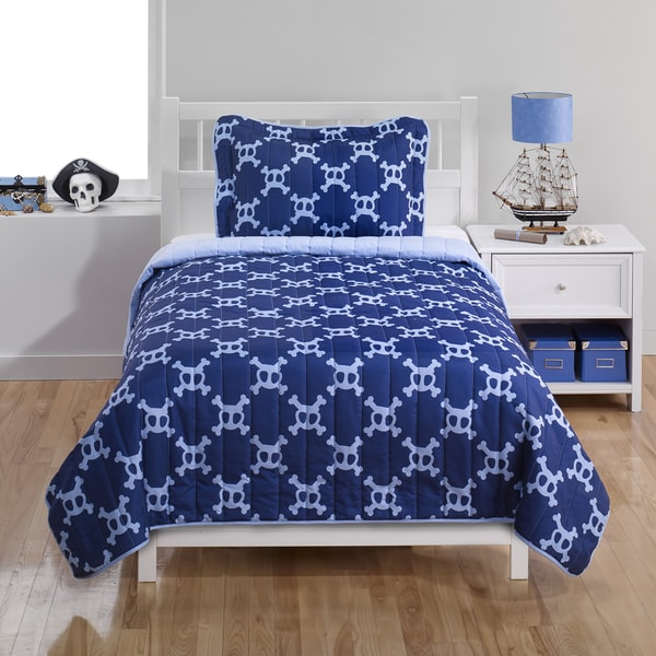 Pirate 2-piece Twin Quilt Set