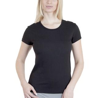 Agiato Apparel Women's Basic Cotton Crew Neck T-shirt