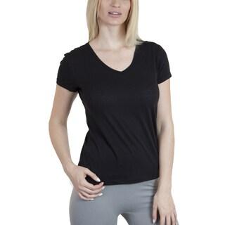 Agiato Apparel Women's Basic Cotton V-neck T-shirt