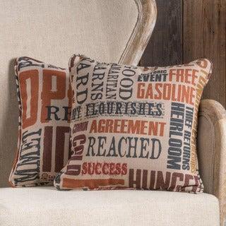 Lori Fabric 18-inch Throw Pillow (Set of 2)