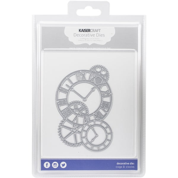 Kaisercraft DiesCogs & Clocks 4.75inX3.25in