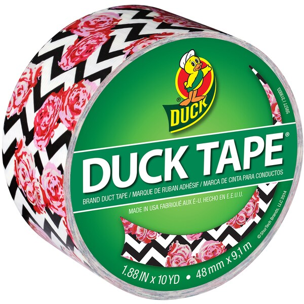 Patterned Duck Tape 1.88inX10ydFlower Chevron