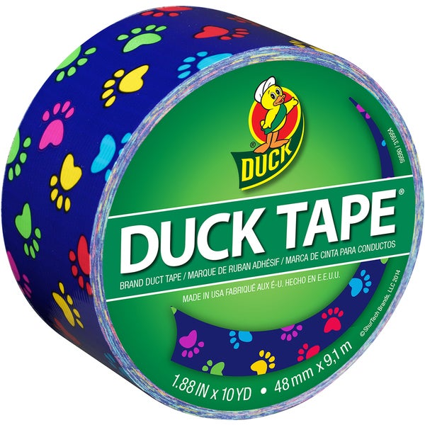Patterned Duck Tape 1.88inX10ydColorful Paws