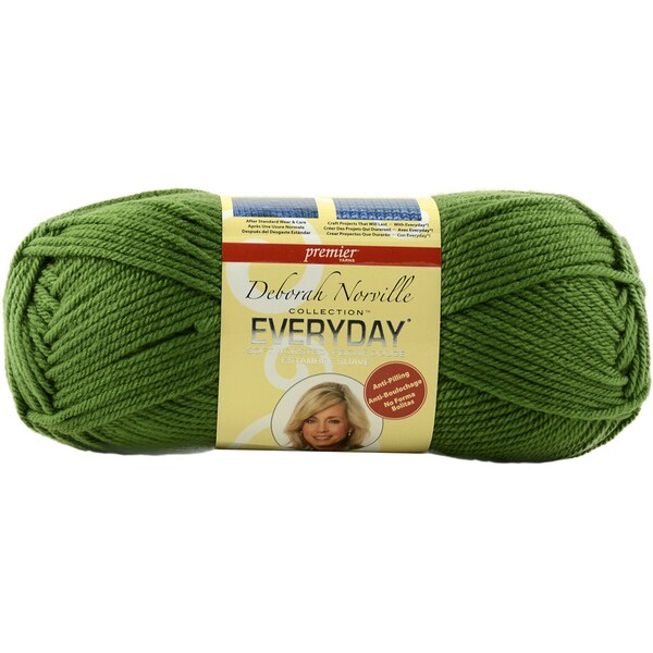 Deborah Norville Collection Everyday Solid YarnChristmas Green