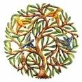 24-Inch Painted Tree of Life Metal Wall Art (Haiti)