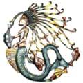 24-Inch Painted Mermaid Metal Wall Art (Haiti)