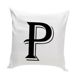 Personalized Contemporary Initial Throw Pillow