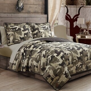 Wolf Camouflage Quilt 3-piece Set by Field & Stream