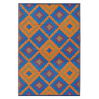 Saman Blue & Orange (3' x 5')